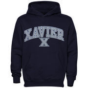 Xavier Musketeers Youth Midsized Pullover Hoodie - Navy Blue