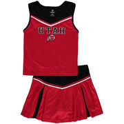 Girls Youth Colosseum Red Utah Utes Aerial Cheer Set