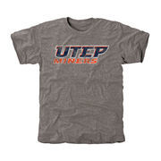 Men's Gray UTEP Miners Classic Wordmark Tri-Blend T-Shirt