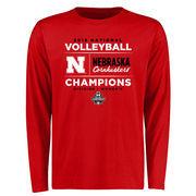 Men's Scarlet Nebraska Cornhuskers 2015 Women's Volleyball Champions Long Sleeve T-Shirt