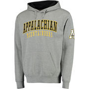 Men's Colosseum Gray Appalachian State Mountaineers Double Arch Pullover Hoodie
