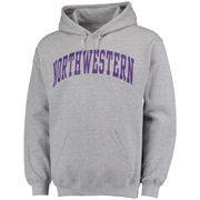 Men's Fanatics Branded Gray Northwestern Wildcats Basic Arch Pullover Hoodie
