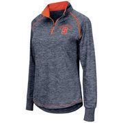 Women's Colosseum Navy Syracuse Orange Bikram 1/4 Zip Long Sleeve Jacket