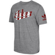 Men's adidas Gray Indiana Hoosiers Local Tri-Blend T-Shirt