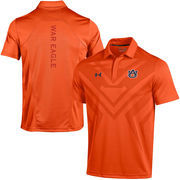 Men's Under Armour Orange Auburn Tigers Coaches Sideline Scout Polo