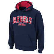 Men's Stadium Athletic Navy Ole Miss Rebels Arch & Logo Pullover Hoodie