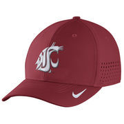 Men's Nike Crimson Washington State Cougars Sideline Vapor Coaches Performance Flex Hat