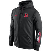 Men's Nike Black Rutgers Scarlet Knights Circuit Full-Zip Performance Hoodie