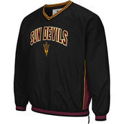 Men's Colosseum Black Arizona State Sun Devils Fair Catch Pullover Jacket