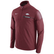 Men's Nike Heathered Cardinal Arkansas Razorbacks 2016 Elite Coaches Dri-FIT 1/2 Zip Jacket