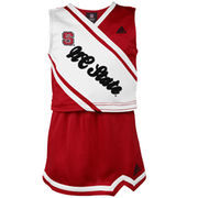 NC State Wolfpack adidas Girls Youth 2-Piece Cheer Dress - Red