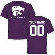 Men's Purple Kansas State Wildcats Personalized Football T-Shirt