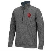 Men's adidas Gray Indiana Hoosiers Tech 1/4-Zip climawarm Jacket