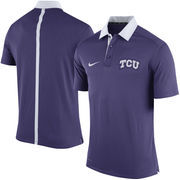 Men's Nike Purple TCU Horned Frogs Coaches Sideline Dri-FIT Polo