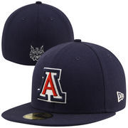 New Era Arizona Wildcats Master 59FIFTY Fitted Flat Bill Hat - Navy Blue