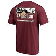 Men's Fanatics Branded Garnet Florida State Seminoles 2016 Orange Bowl Champions Touchdown Score T-Shirt