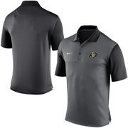 Men's Nike Gray Colorado Buffaloes 2015 Coaches Preseason Sideline Polo