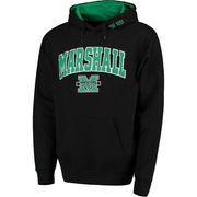 Men's Black Marshall Thundering Herd Arch & Logo Pullover Hoodie