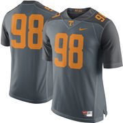 Men's Nike #98 Gray Tennessee Volunteers Limited Jersey