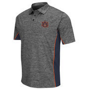 Men's Colosseum Gray/Navy Auburn Tigers Back Rush Polo