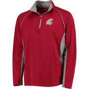 Men's Colosseum Crimson Washington State Cougars Air Stream Quarter-Zip Pullover Jacket