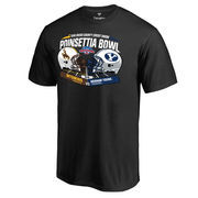 Men's Fanatics Branded Black BYU Cougars vs. Wyoming Cowboys 2016 Poinsettia Bowl Motion T-Shirt