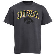 Men's New Agenda Charcoal Iowa Hawkeyes Arch Over Logo T-Shirt