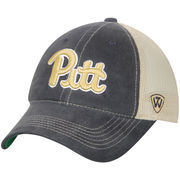 Men's Top of the World Navy/Natural Pitt Panthers Dirty Mesh Trucker Adjustable Hat