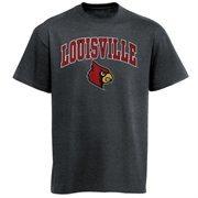 Mens Charcoal Louisville Cardinals Arch Over Logo T-Shirt