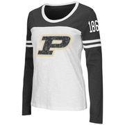 Women's Colosseum White Purdue Boilermakers Hornet Long Sleeve T-Shirt