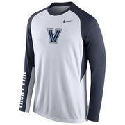 Nike White Villanova Wildcats 2015-2016 Elite Basketball Pre-Game Shootaround Long Sleeve Dri-FIT Top