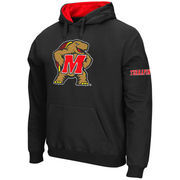 Men's Stadium Athletic Black Maryland Terrapins Big Logo Pullover Hoodie