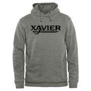 Men's Heather Gray Xavier Musketeers Classic Wordmark Pullover Hoodie