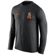 Men's Nike Heather Black Oklahoma State Cowboys Dri-FIT Touch Performance Long Sleeve T-Shirt