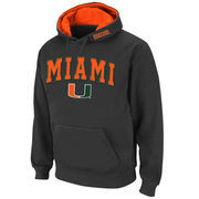 Men's Stadium Athletic Charcoal Miami Hurricanes Arch & Logo Pullover Hoodie