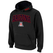 Men's Stadium Athletic Charcoal Arizona Wildcats Arch & Logo Pullover Hoodie