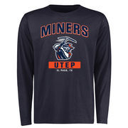 Men's Navy UTEP Miners Campus Icon Long Sleeve T-Shirt