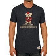 Men's Original Retro Brand Heather Black Cincinnati Bearcats Vintage Tri-Blend T-Shirt