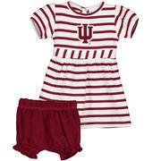 Girls Infant Crimson Indiana Hoosiers Stripe Dress