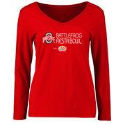 Women's Scarlet Ohio State Buckeyes 2016 Fiesta Bowl Bound Long Sleeve T-Shirt