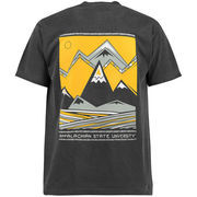 Men's Black Appalachian State Mountaineers Scenic Comfort Colors T-Shirt