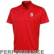 North Carolina State Wolfpack Omega Solid Mesh Tech Performance Polo - Red