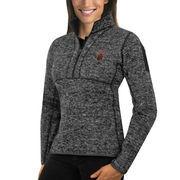 Women's Antigua Charcoal Montana Grizzlies Fortune 1/2-Zip Pullover Sweater