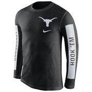 Men's Nike Black Texas Longhorns Boundary Tri-Blend Long Sleeve T-Shirt