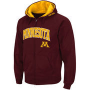 Men's Stadium Athletic Maroon Minnesota Golden Gophers Arch & Logo Full Zip Hoodie