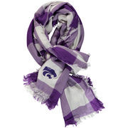 Women's ZooZatz Kansas State Wildcats Buffalo Check Scarf