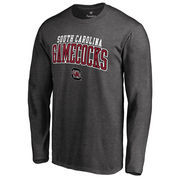 Men's Fanatics Branded Charcoal South Carolina Gamecocks Square Up Long Sleeve T-Shirt