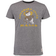 Men's Original Retro Brand Heathered Gray Colorado State Rams Vintage Tri-Blend T-Shirt