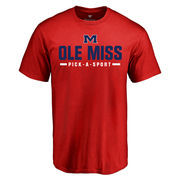 Men's Red Ole Miss Rebels Custom Sport T-Shirt