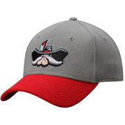 Men's Gray/Red UNLV Rebels The Lombard Stretch Fit Hat